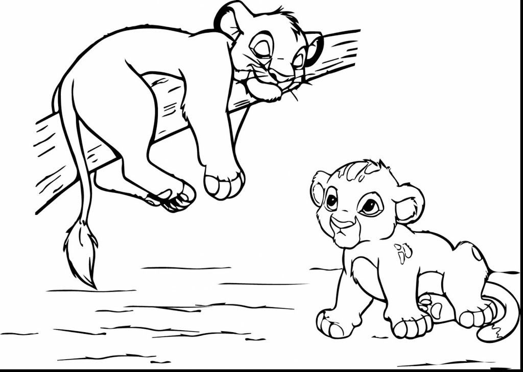 1024x729 Best Free Lion King Scar Coloring Pages Design