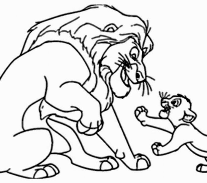 678x600 The Lion King Drawing Kids Coloring
