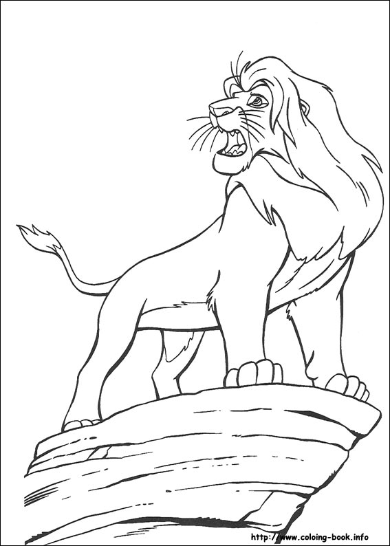 567x794 The King Lion Coloring Sheets For Kids
