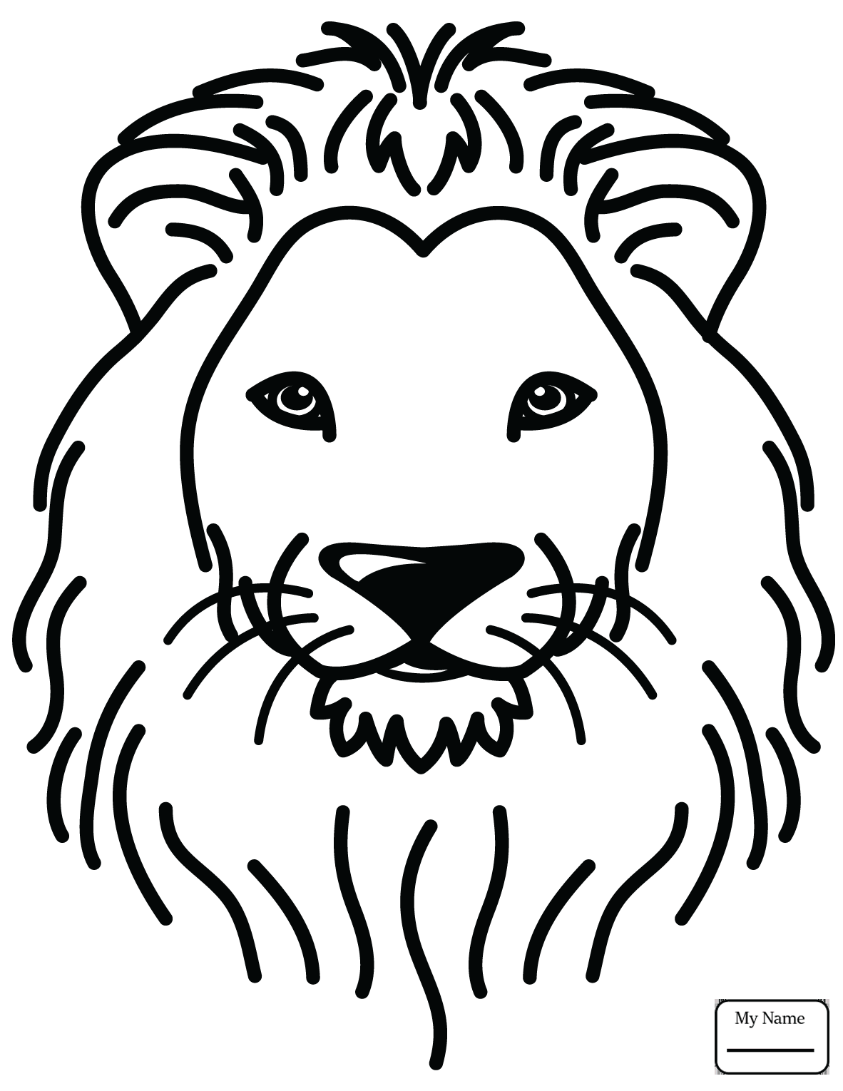 1182x1530 Coloring Pages For Kids Lions Cute Lion Mammals