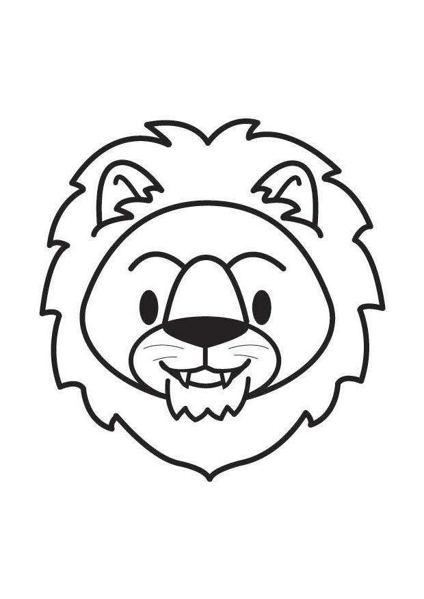 620x875 Coloring Page Lion Head