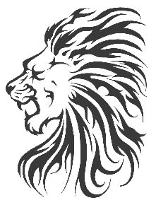 221x290 Lion Head Tattoo Sample