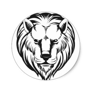 324x324 Lion Sketch Stickers Zazzle