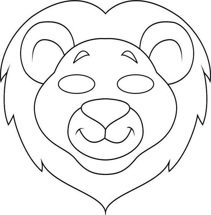 700x716 Animal Mask Template