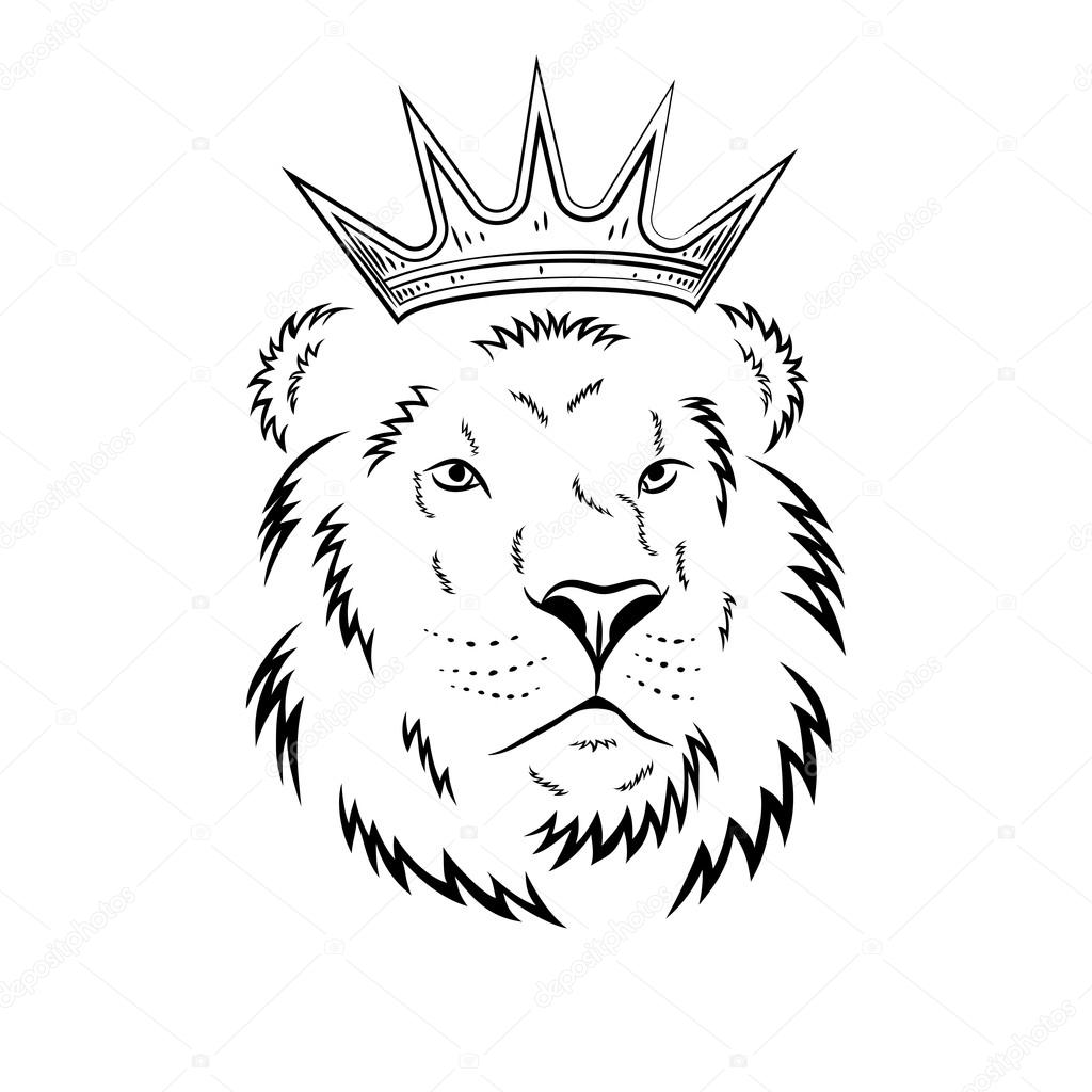 1024x1024 Lion Head In Crown
