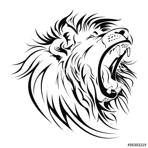 500x500 Lion Roar Head Vector Stock Image And Royalty Free Vector Files