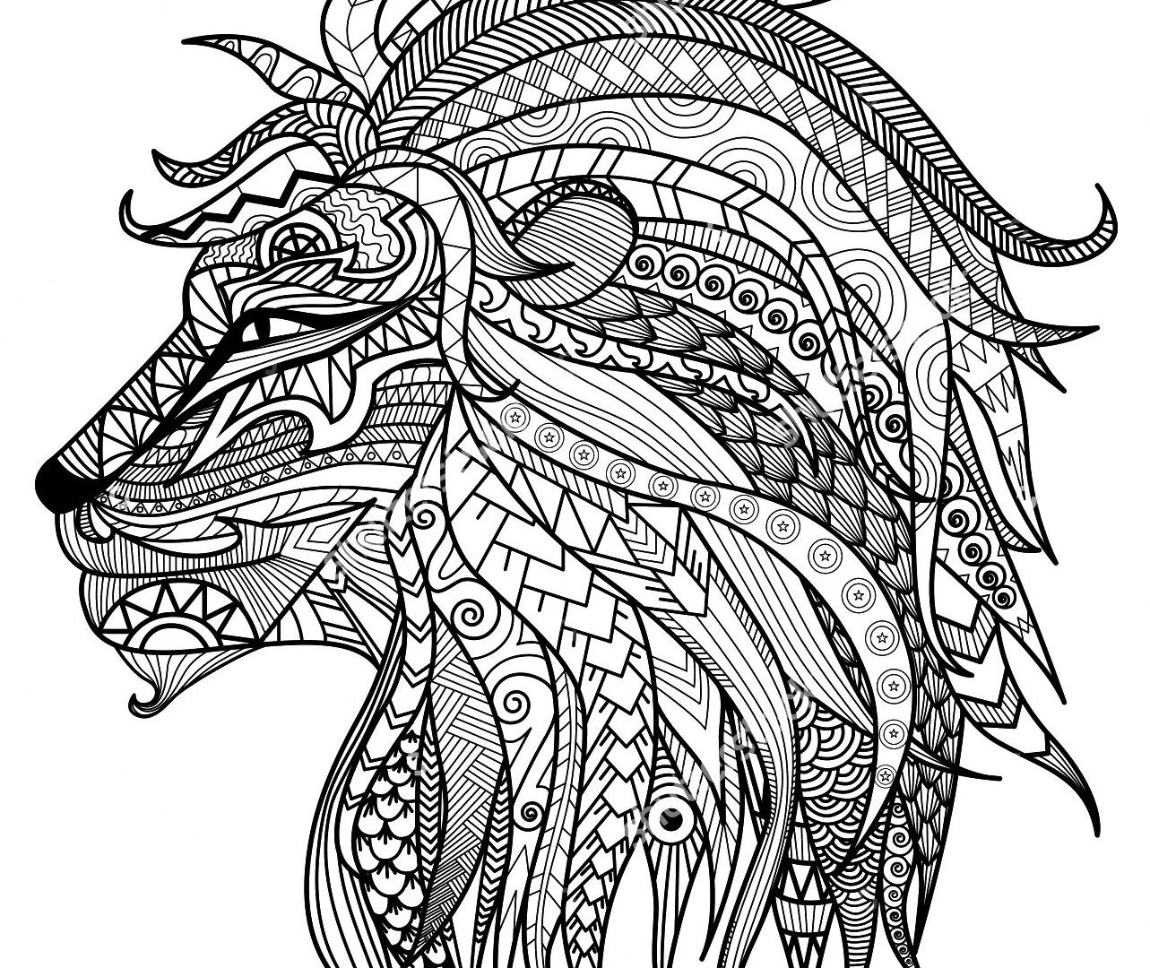1283x1080 Lions Coloring Pages Free Lion Printable Animals To Print Sheets