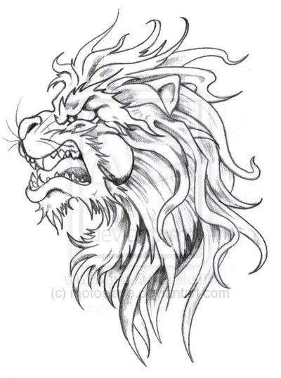 400x537 Collection Of Lion Head Tattoo Sketch