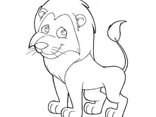 320x240 Kids Drawing Templates Lion Template Animal Templates Free Premium
