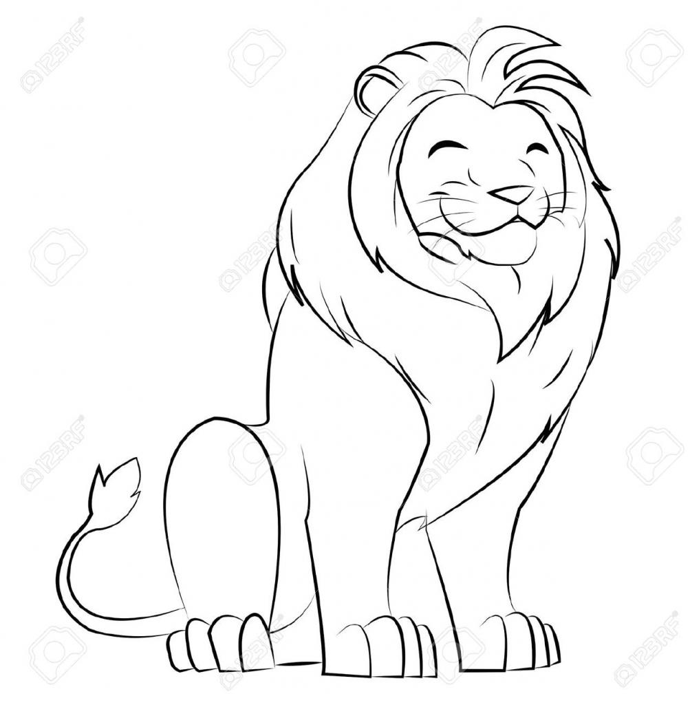1003x1024 Cartoon Lion Drawing Lion Cartoon Drawing