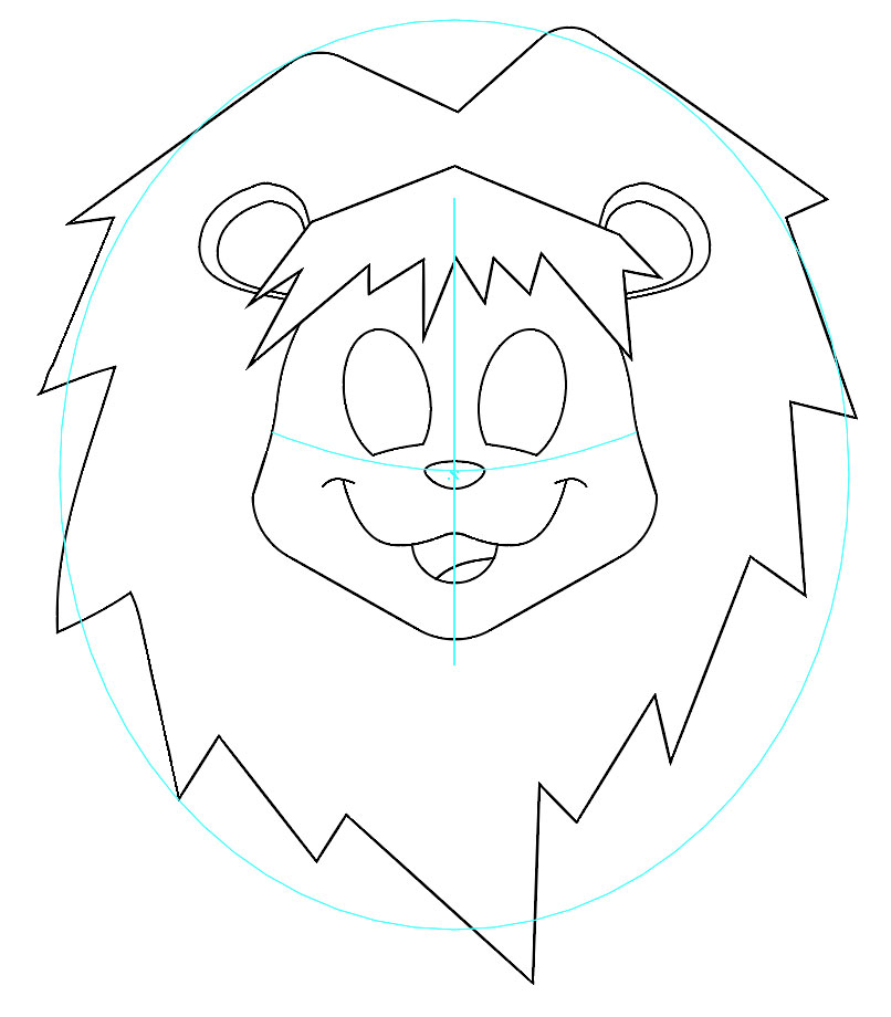 806x920 Tut Draw This Cute Lion And Sharpen Your Drawing Techniques (Part