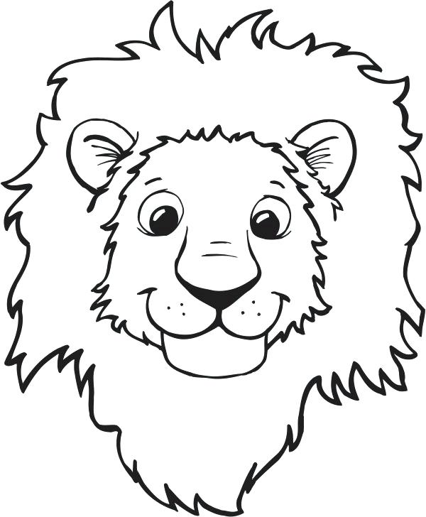 600x728 Entertaining Clip Art Coloring Pages New Best Lion Ideas On Face