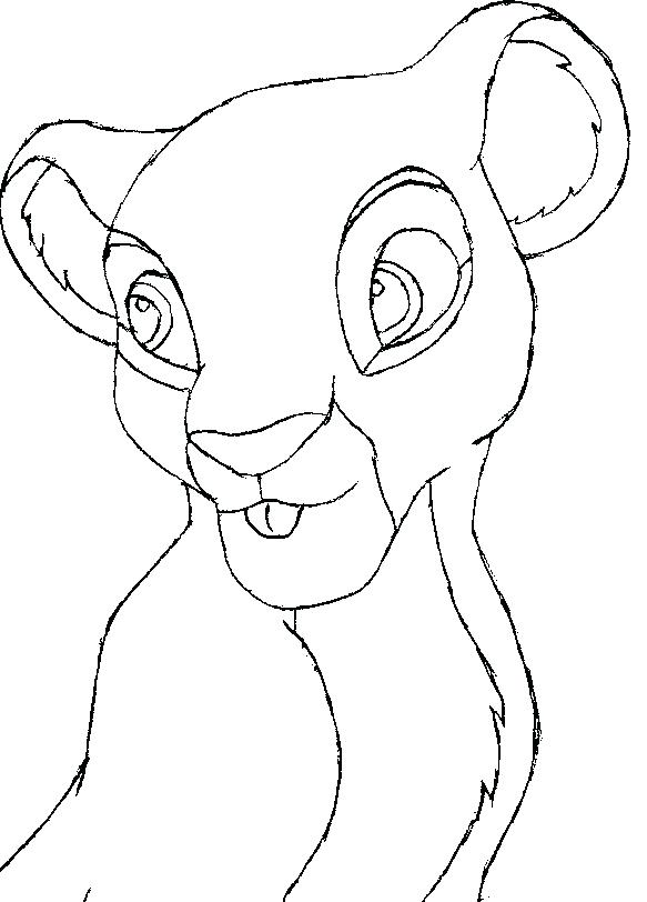 583x812 Lion Drawing Outline Lion Cub Outline By Lion Head Drawing Outline