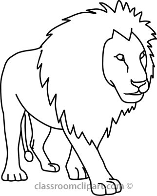 322x400 Lion Outline Drawing Lion Face Outline Drawing
