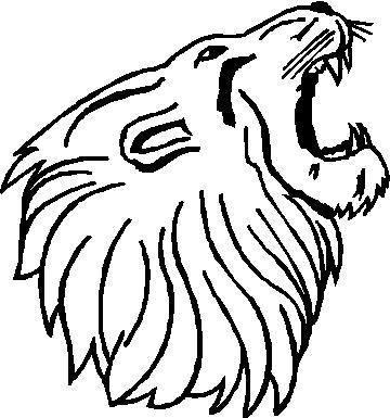 360x385 Roaring Lion Outline