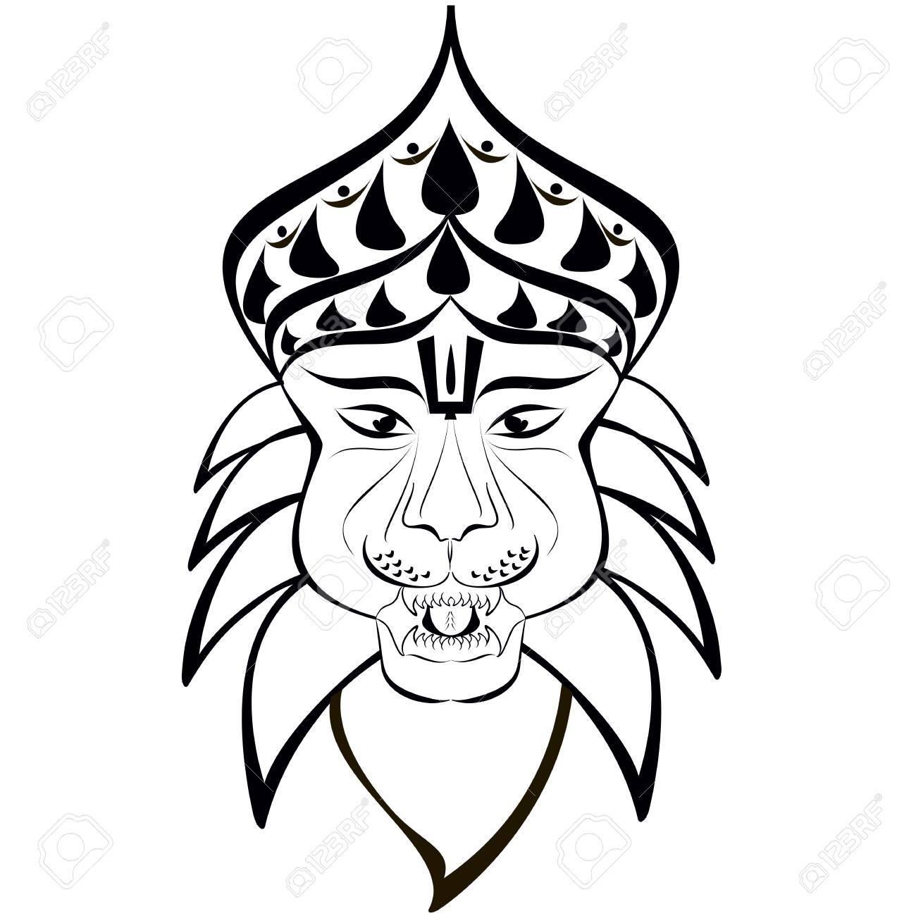 1300x1300 Shri Nrisimha Or Narasimha, 4th Incarnation Of Lord Vishnu As