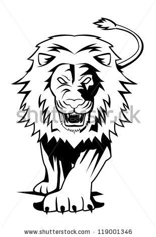 310x470 Drawn Lion Fierce Lion