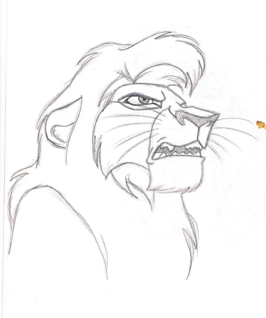 900x1077 Drawn Lion Kovu