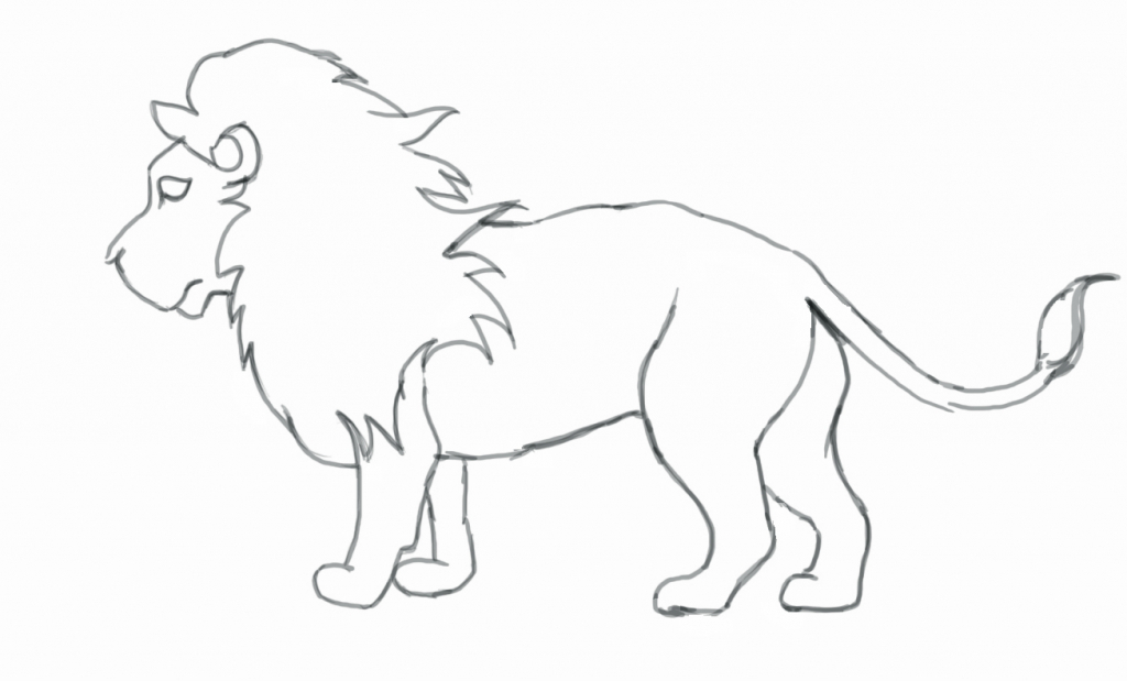 1024x619 Simple Drawing Of A Lion