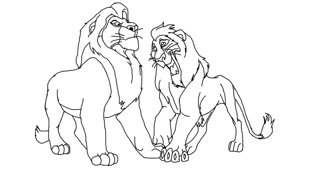 1024x559 The Lion King Scar And Mufasa Base By Lionkingadopts