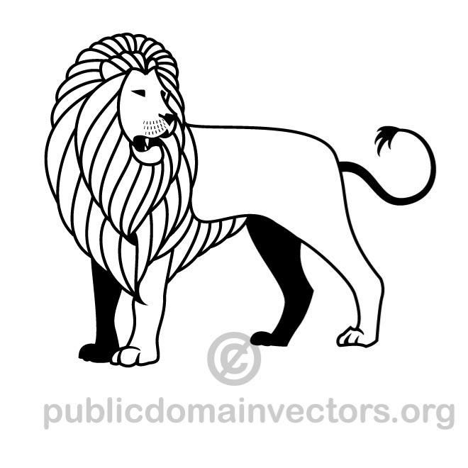 660x660 Vector Drawing Of A Lion