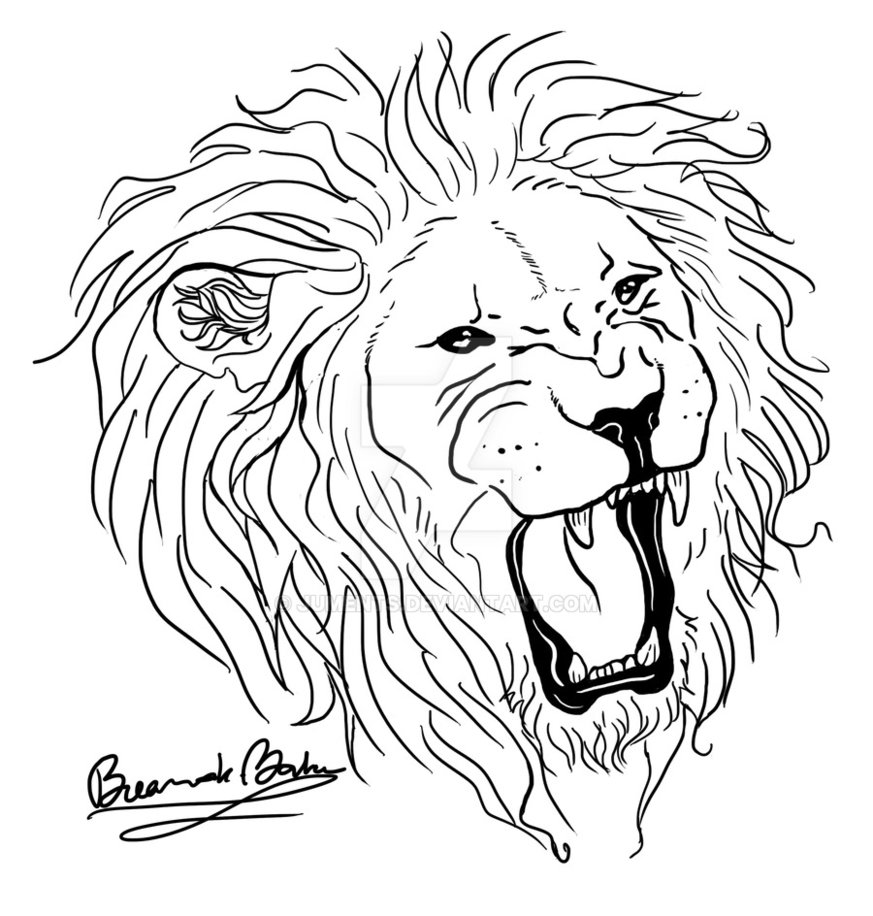 873x916 Download Tattoo Simple Lion