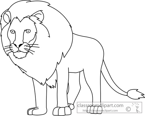500x402 Lion Outline Clip Art