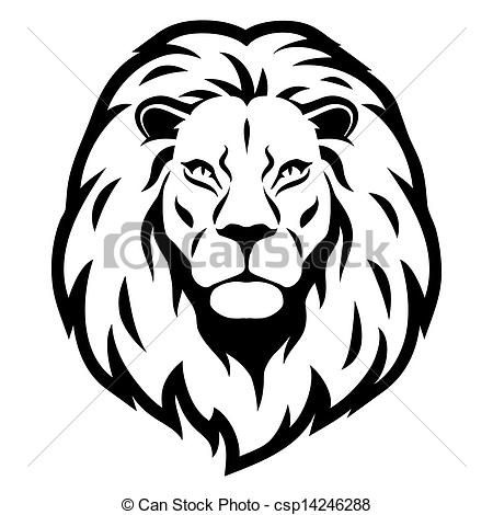 450x470 Simple Lion Head Clipart Letters Example