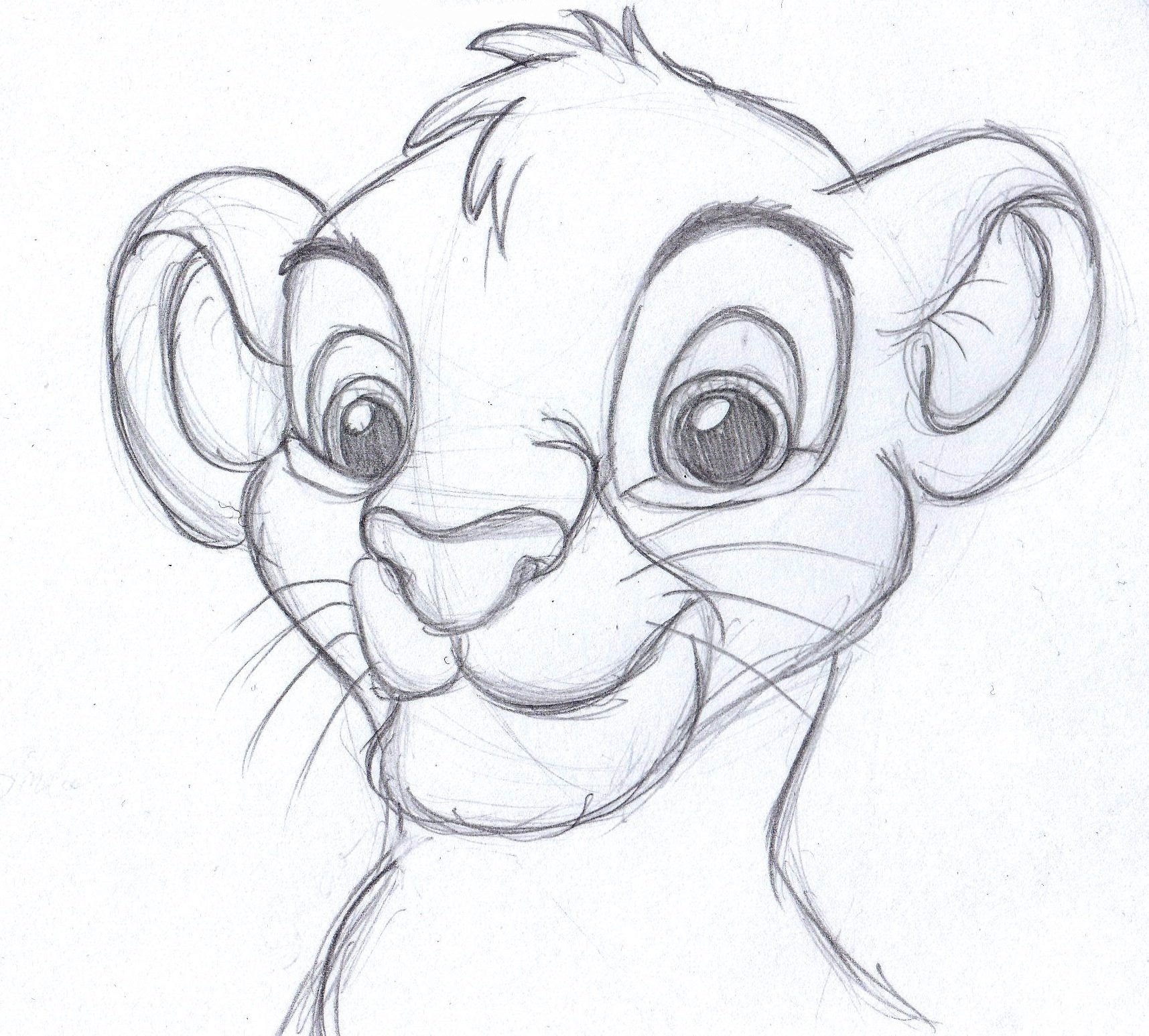1715x1546 Simple Pencil Art Cartoons The Lion King! One Of My Favorite