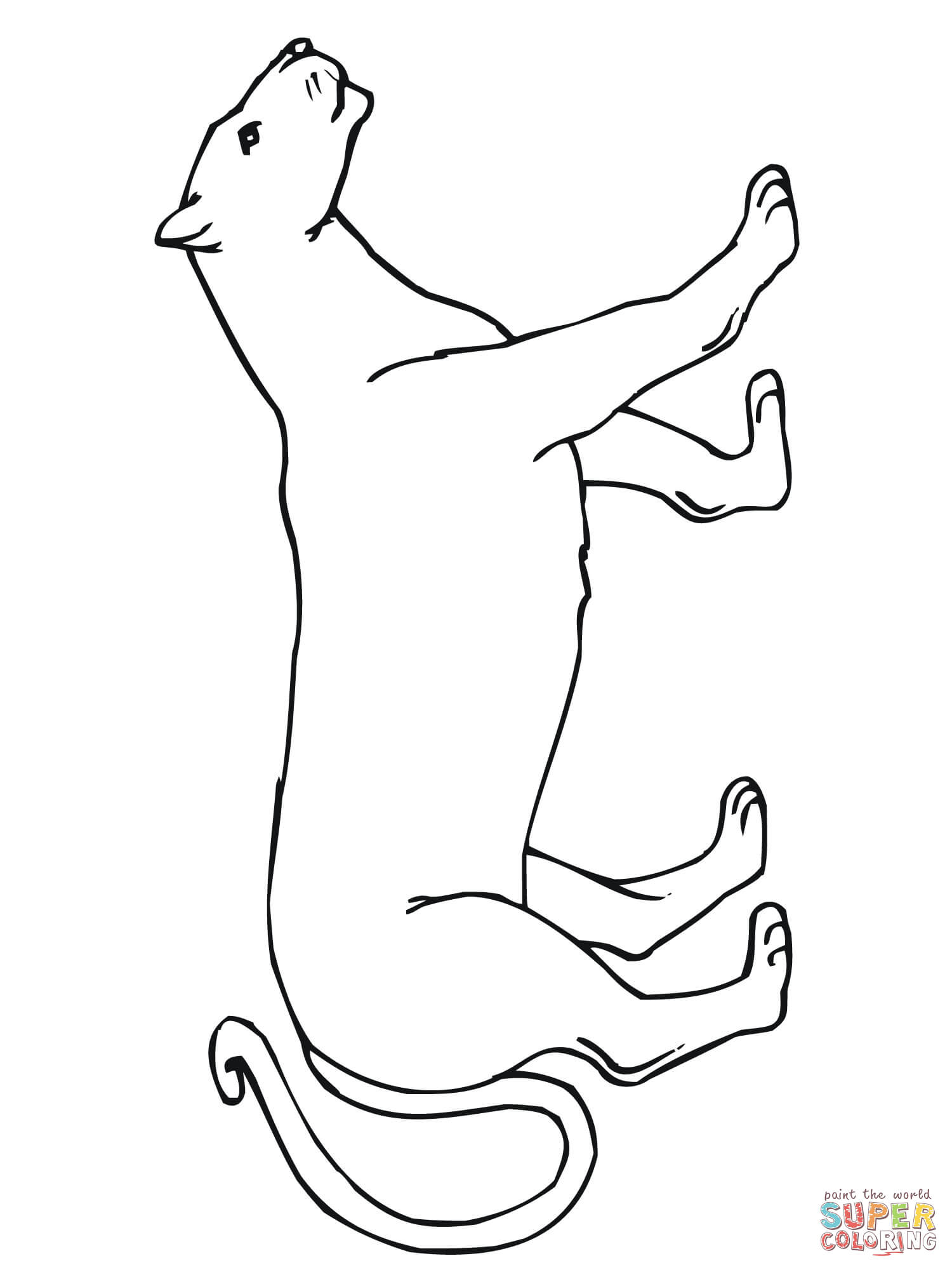 1500x2000 Walking Mountain Lion Coloring Page Free Printable Coloring Pages