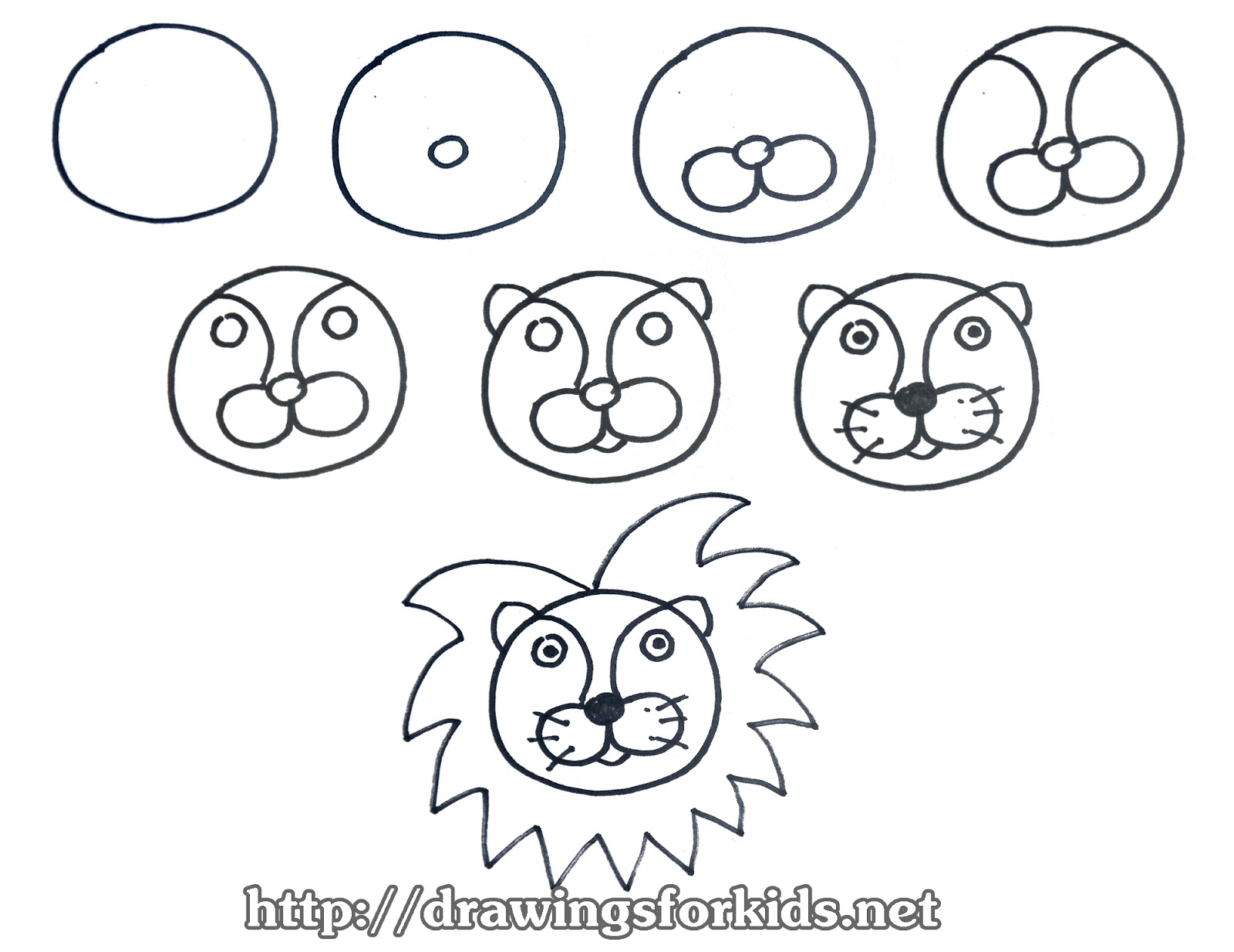 1600x1234 How To Draw A Lion For Kids