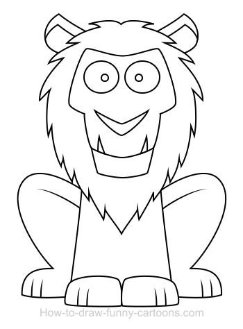 350x474 Drawing A Lion Cartoon