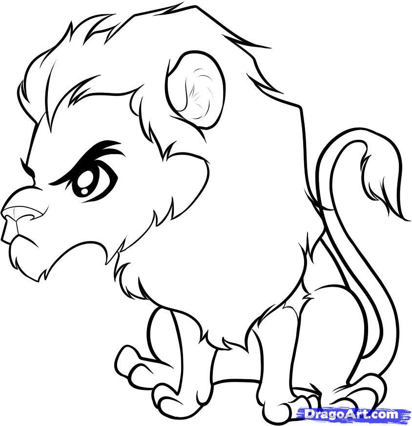 844x871 Drawn Lion Cute Chibi