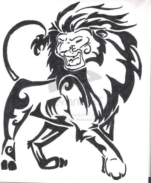 Lion Drawing Tattoo
