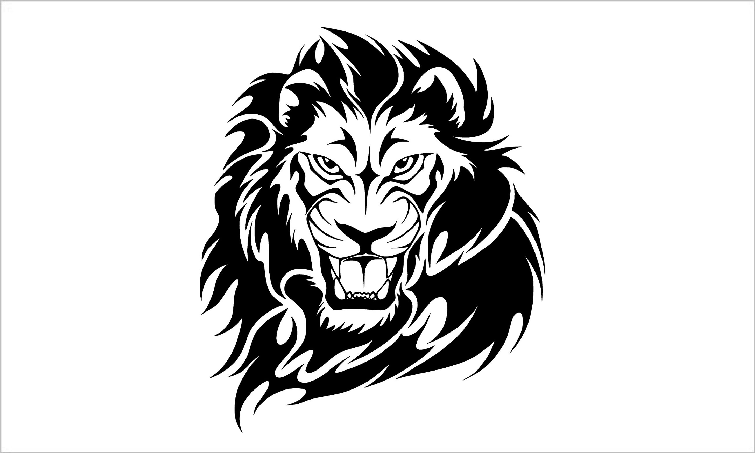 2604x1561 How To Draw A Lion Tattoo