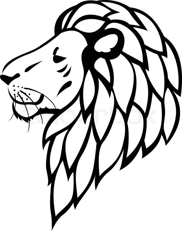 632x800 Lion Tattoo Stock Vector Colourbox