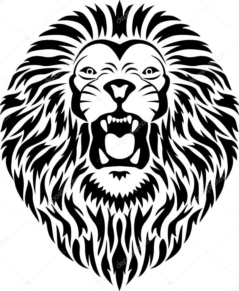842x1023 Lion Tattoo Stock Vector Dagadu