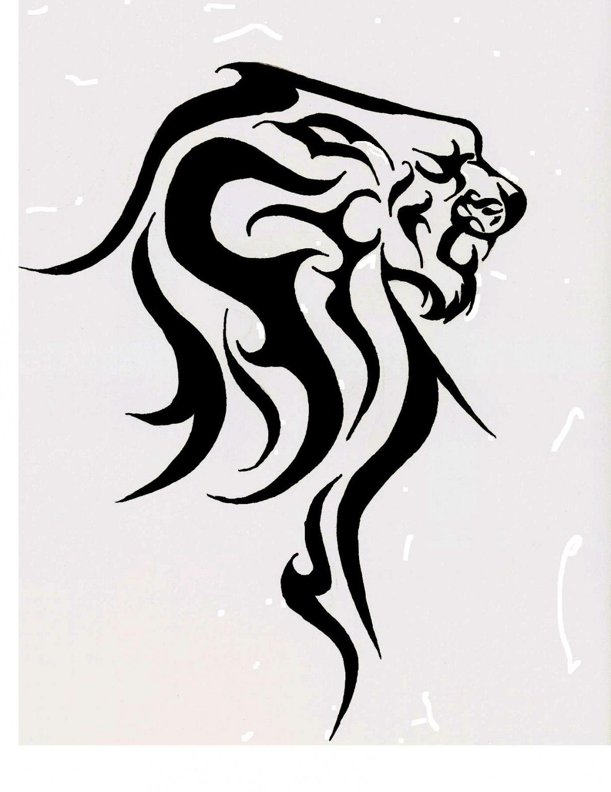 1203x1560 Tribal Tattoo Drawings Designs Lion Head Tribal Tattoo Designs
