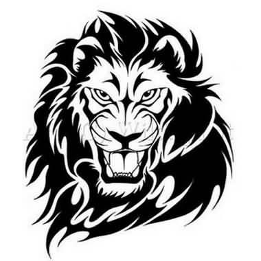 380x380 Dangerous Lion Head Tattoo