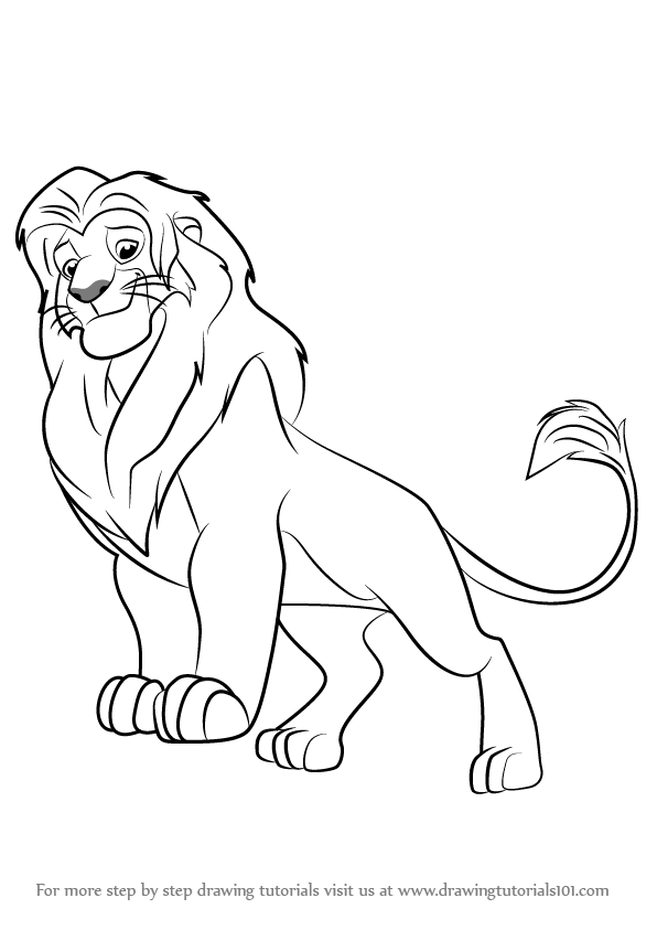 596x843 Learn How To Draw Simba From The Lion Guard (The Lion Guard) Step