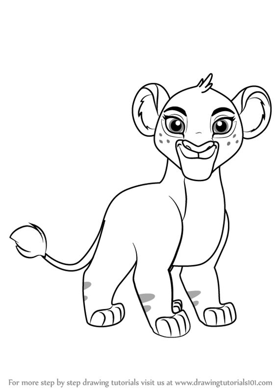 567x800 Learn How To Draw Tiifu From The Lion Guard (The Lion Guard) Step