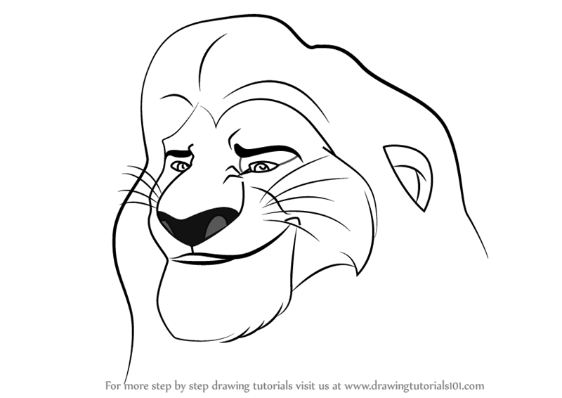 800x566 Step By Step How To Draw Mufasa From The Lion Guard