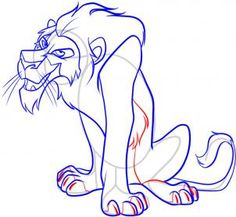 236x217 Baby Lions Art For Kids How To Draw Scar From Lion King, Step By