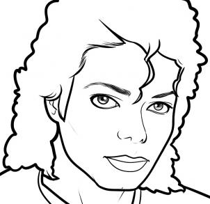 302x293 How To Draw Michael Jackson