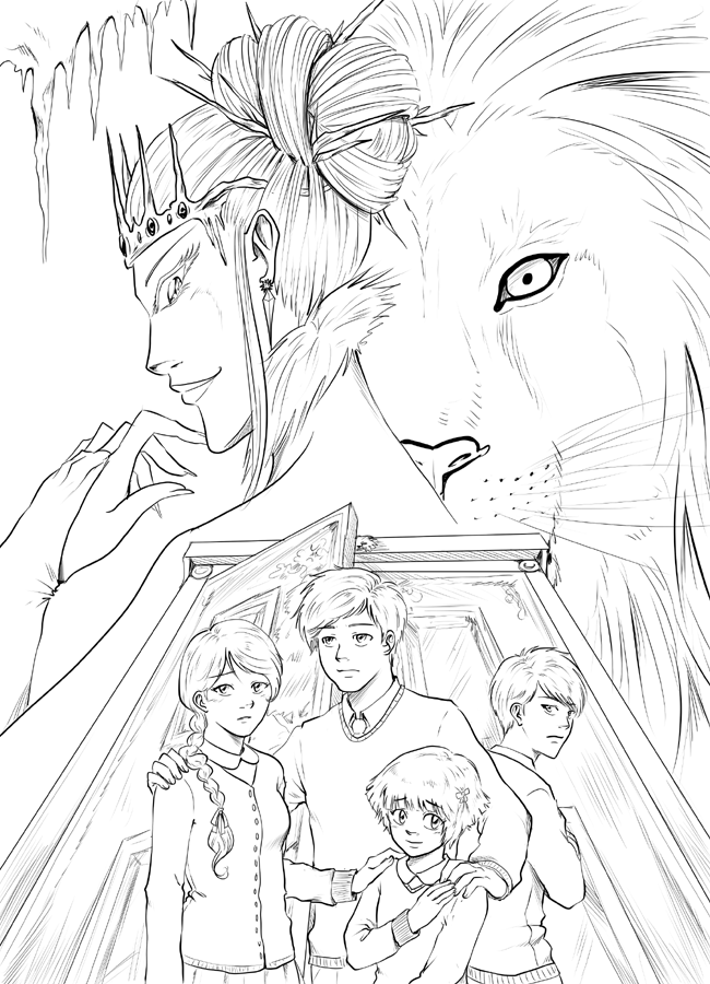 650x900 The Lion, The Witch And The Wardrobe Inked By Triaelf9