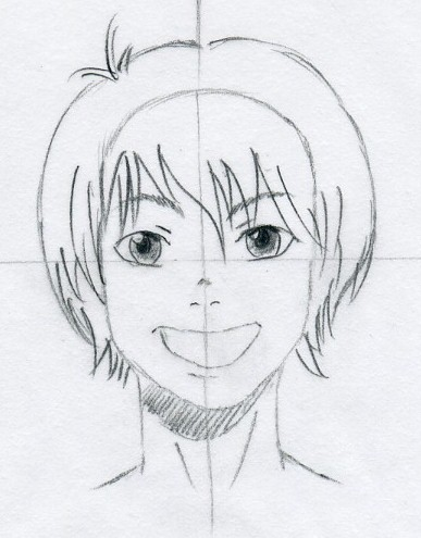 387x495 Draw Manga Hair Easily