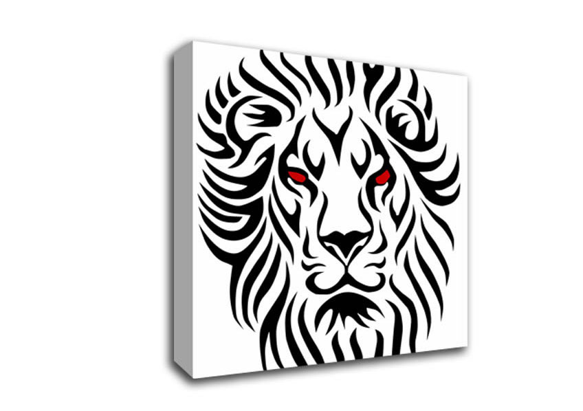 848x598 Fierce Lion Eyes Ethnic Square Panel Canvas Square Canvas