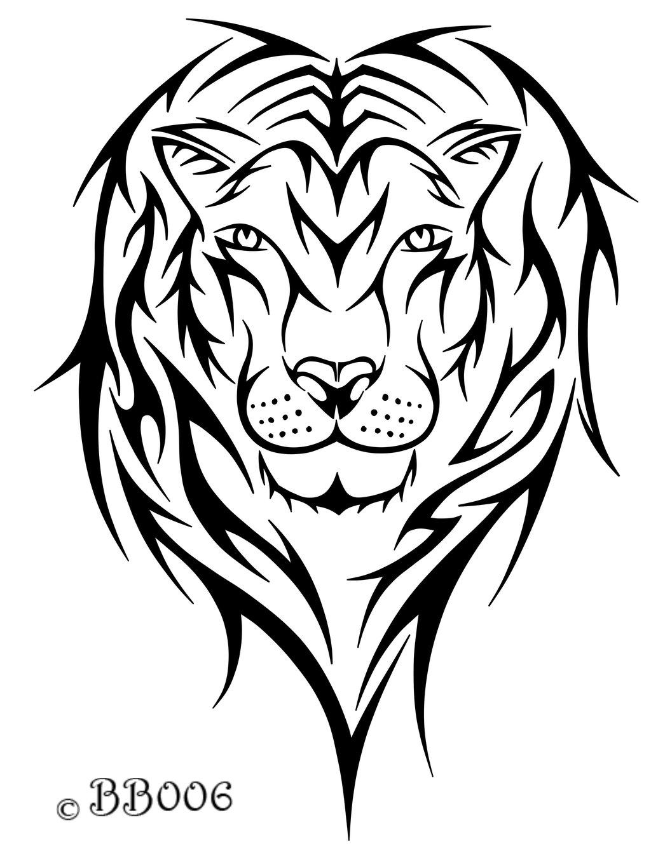 1024x1365 Tribal Lion Head By Blackbutterfly006