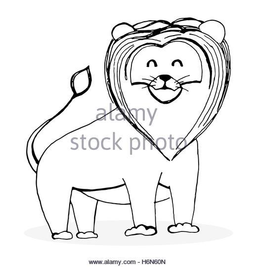 520x540 Cartoon Lion Animal Outline Vector Stock Photos Amp Cartoon Lion