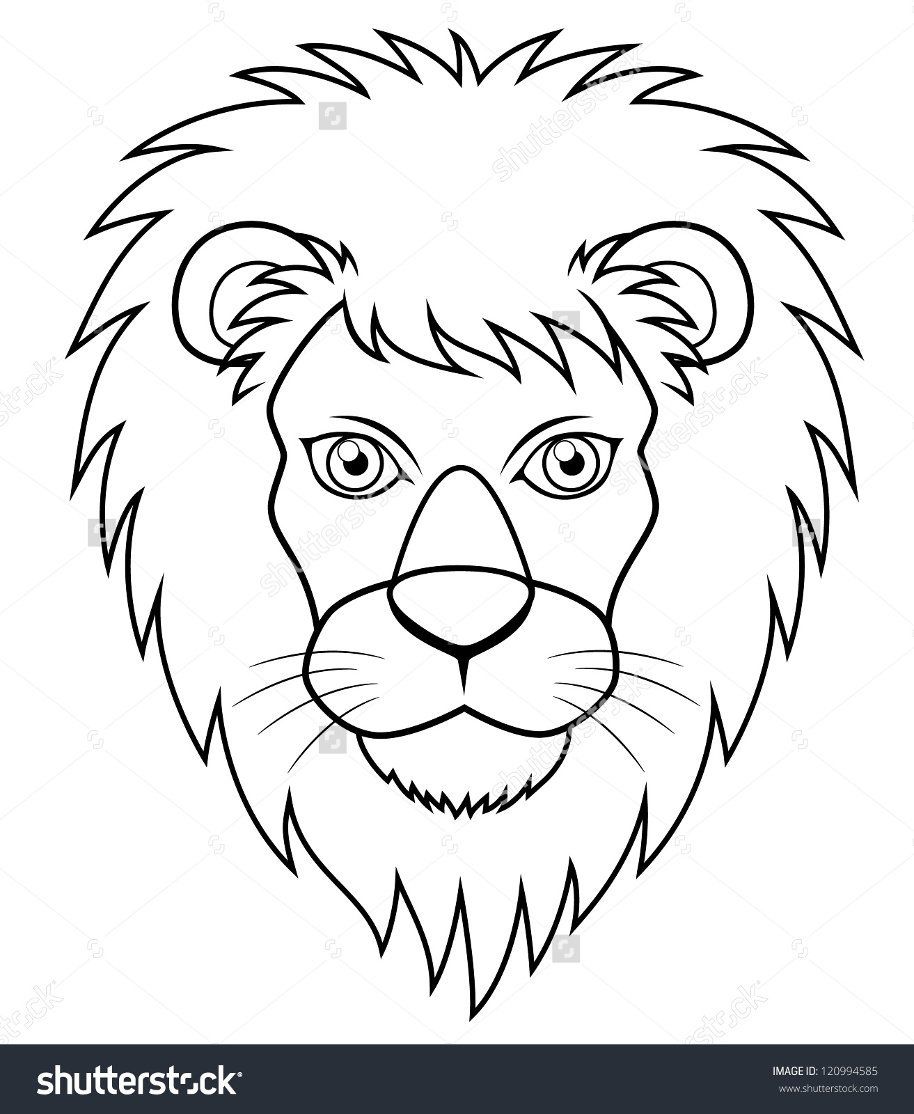 Line Drawing Lion Face : Lion face drawing at getdrawings free for personal